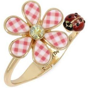 Betsey Johnson flower ladybug bracelet